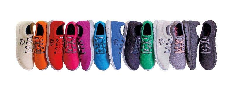цветни обувки от вълна за лято и зима