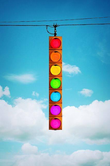 цветен светофар
