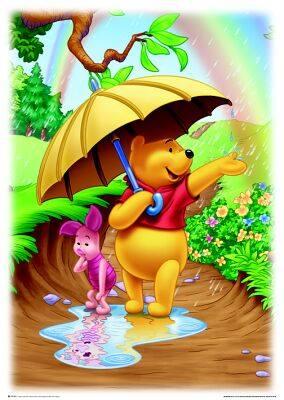Мечо пух и Прасчо под дъгата